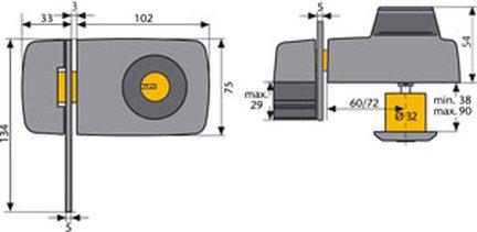 abus t rzusatzschloss mit sperrb gel typ 7035 friedhelm. Black Bedroom Furniture Sets. Home Design Ideas